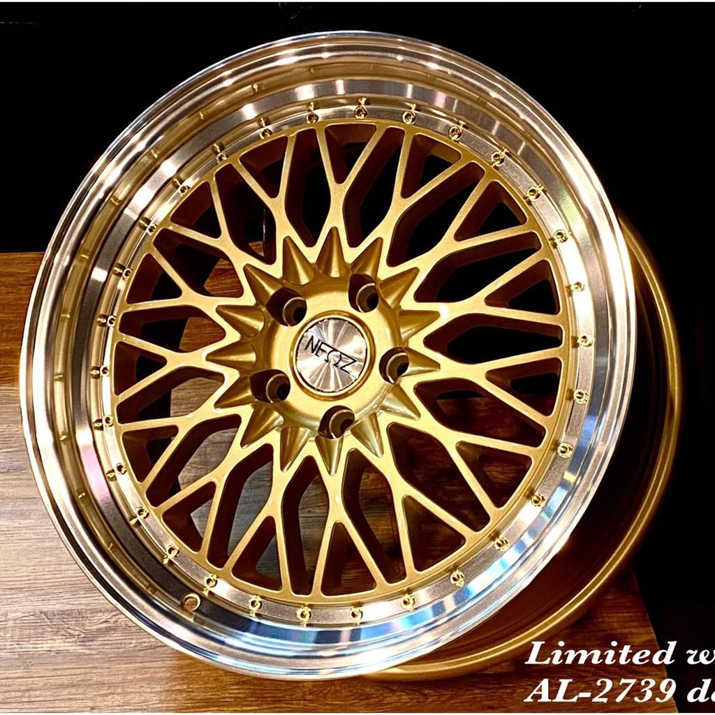 全新鋁圈 AL2739 19吋鋁圈 5孔114.3 5X114.3 金色鉚釘唇邊 海外版限定發售