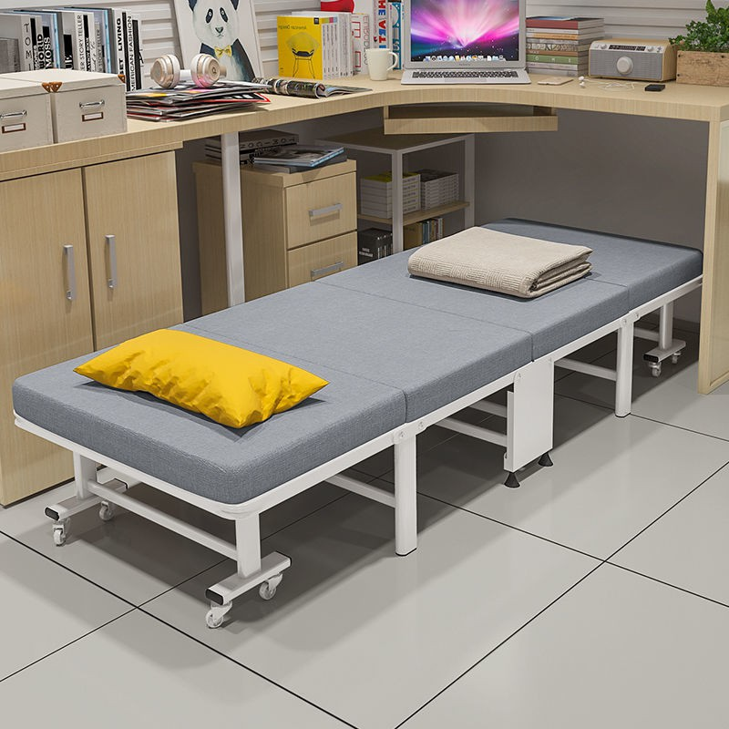 折疊床午休單人床便攜床家用辦公室陪護簡易床硬板午睡神器木板床