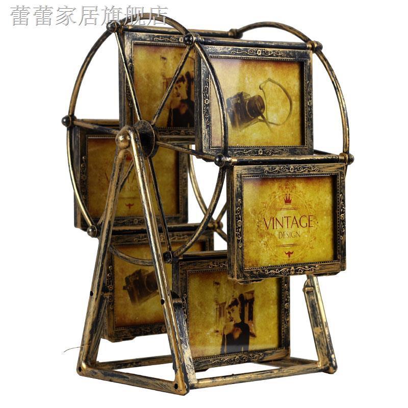 電子相框拍立得相框相框摩天輪創意大風車旋轉5寸相框桌面擺臺擺件相架訂做相冊帶洗照片