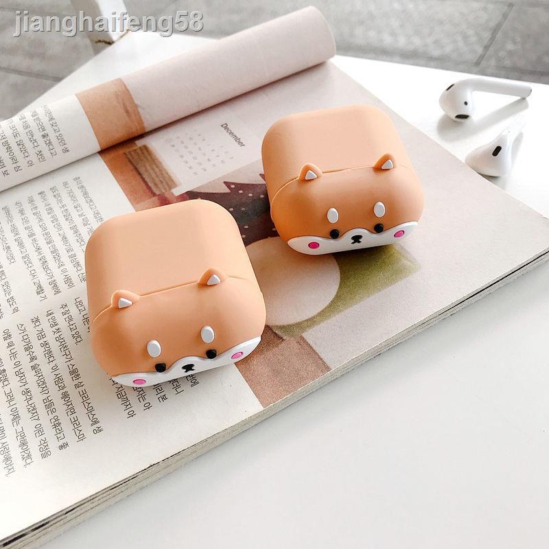 ⊕創意柴犬airpods耳機套蘋果1/2代無線藍牙保護殼pro軟硅3代潮殼