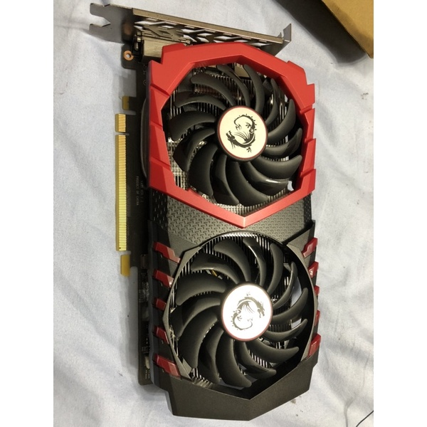 二手 微星 MSI GeForce GTX 1050 Ti GAMING X 4G 1290-1493MHZ