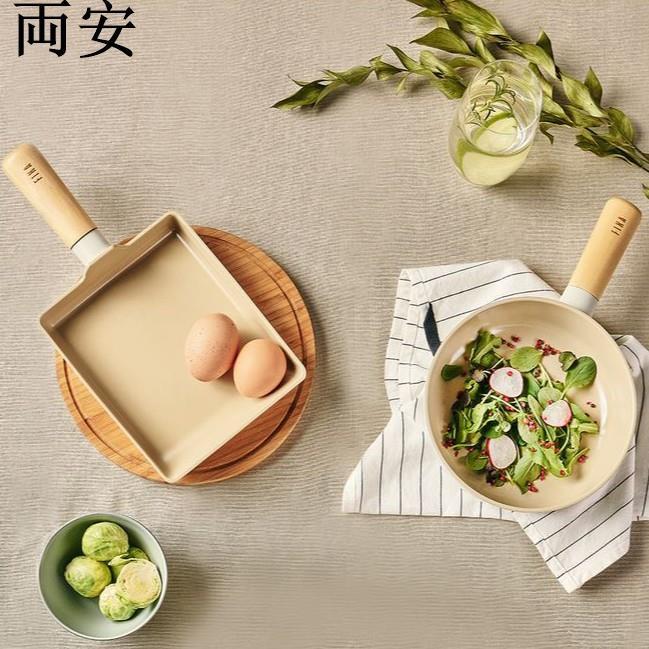 [Neoflam]Fika不沾感應鍋套裝(2件)(蛋捲盤+小炒鍋)精品商貿-百貨