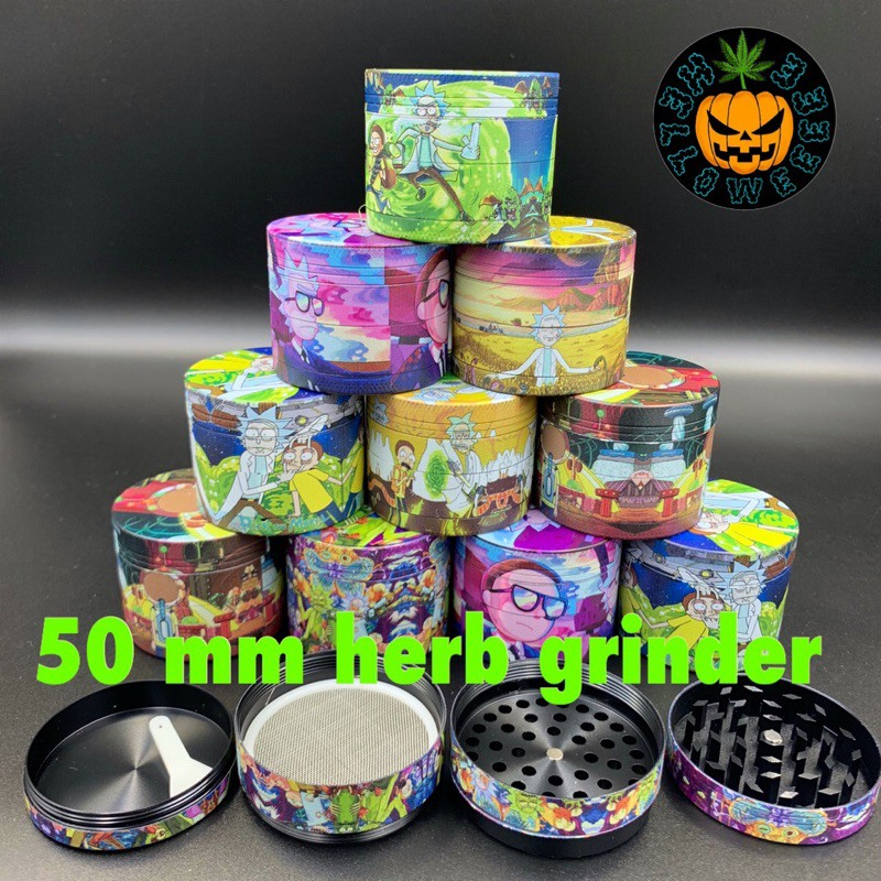 🆕Helloweeeee🎃現貨24H出貨🚚Rick and Morty 50mm grinder bong 水煙