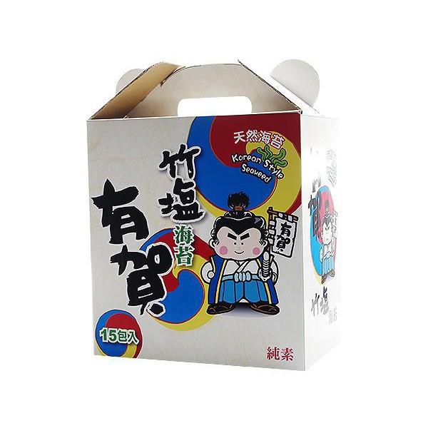 有賀韓式竹鹽海苔禮盒(15入) 【小三美日】限宅配/空運禁送 DS001294