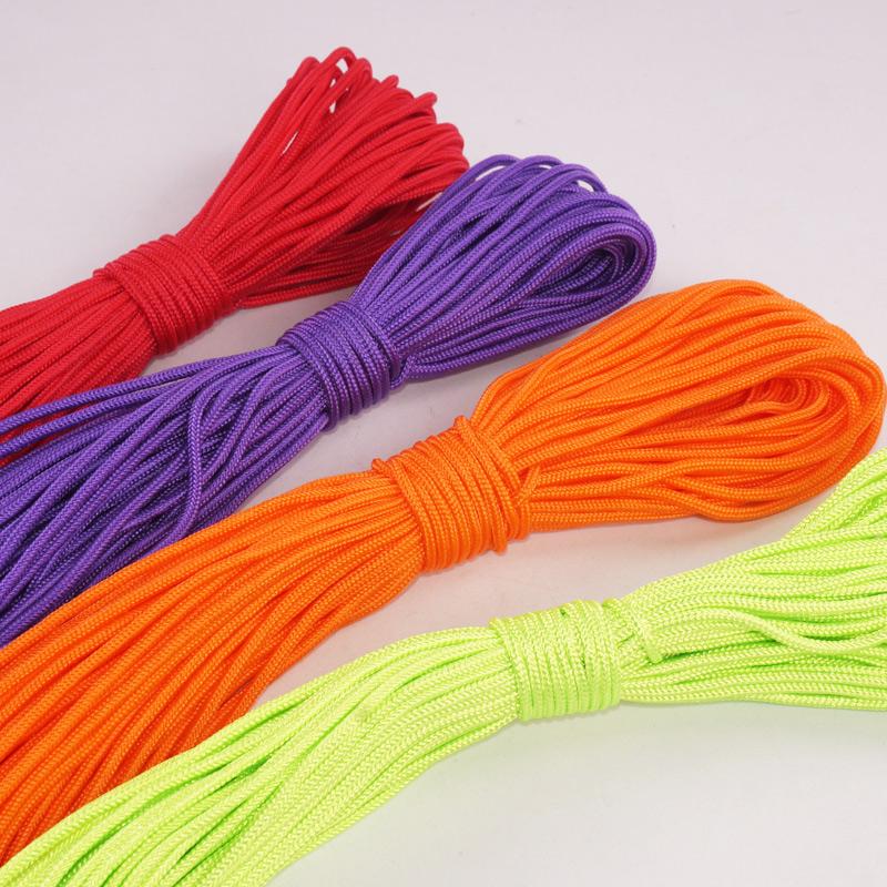 ✥傘繩✥現貨 2mm毫米傘繩手鍊編織線 diy手環飾品配件圓線繩 30米 100米