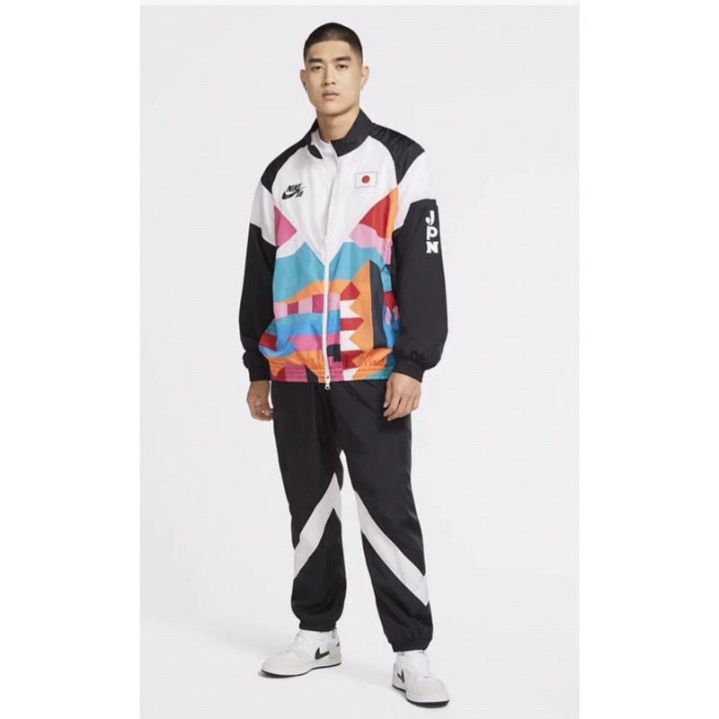 代購東京奧運NIKE SB滑板競賽項目日本隊外套+褲 套裝。