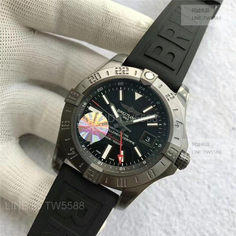 優Breitling百年靈復仇者gmt兩地時區43mm減壓閥GF工廠
