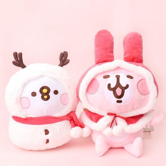 【CatCan】卡娜赫拉小動物『現貨』聖誕節6吋兔兔+雪人P/聖誕禮物Kanahei聯名娃娃/兔兔/雪人P助