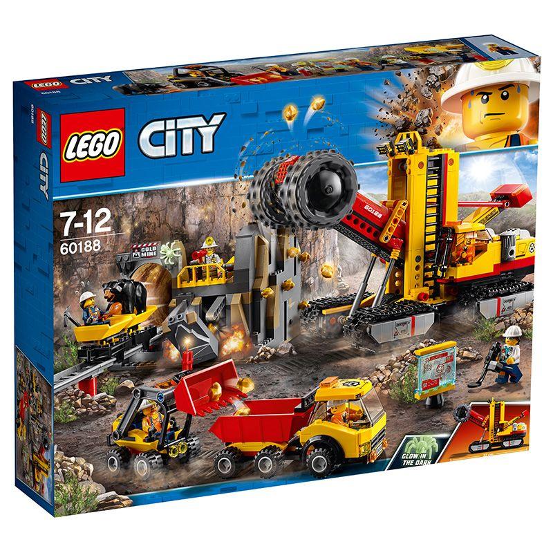 LEGO樂高60188城市採礦場專家基地起重碎石挖掘機翻斗車拼裝積木