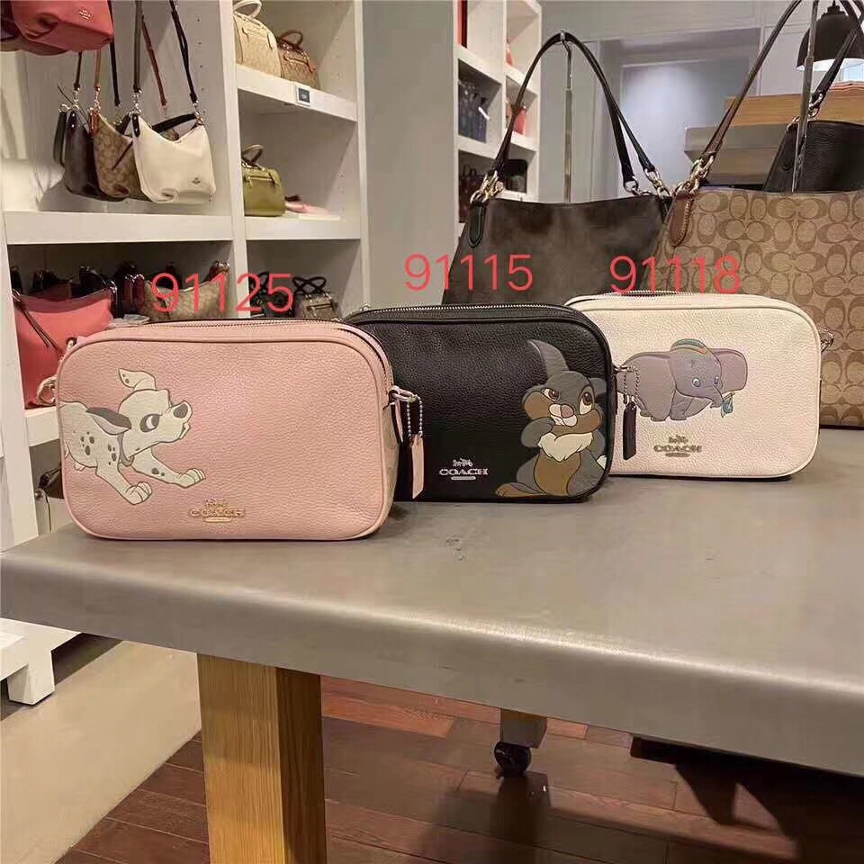 【Woodbury Outlet Coach 旗艦館】COACH 91115 91118 91125雙拉鏈相機包美國代購