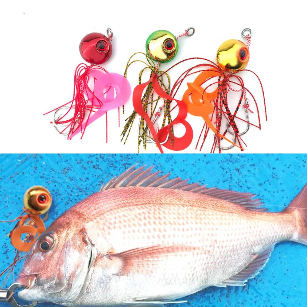 ⊙♠☫炎月日本新款船釣海釣路亞餌矽膠裙帶鐵板鉤鐵板鉛魚60克- 200克