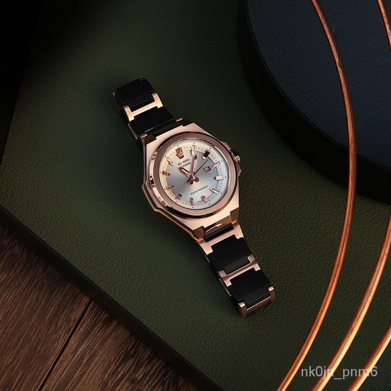 【熱賣NO.1】太陽能動力輕薄錶盤baby-g潮流casio運動手錶女MSG-S500CG-1A J6aN