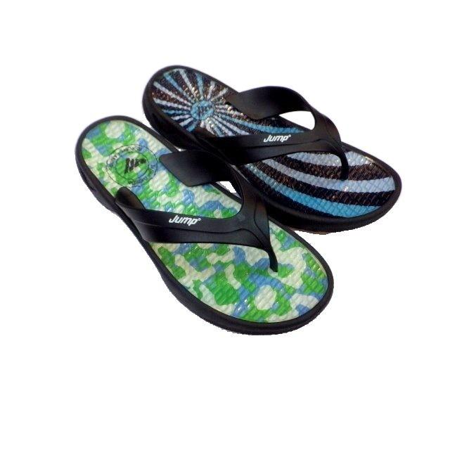 [康美佳鞋城]今夏新款將門061黑綠EPU止滑耐磨防水夾腳男排水拖大特價$250