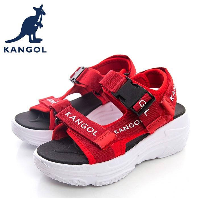 KANGOL 英國袋鼠 涼鞋 6022230240 紅色 女涼鞋