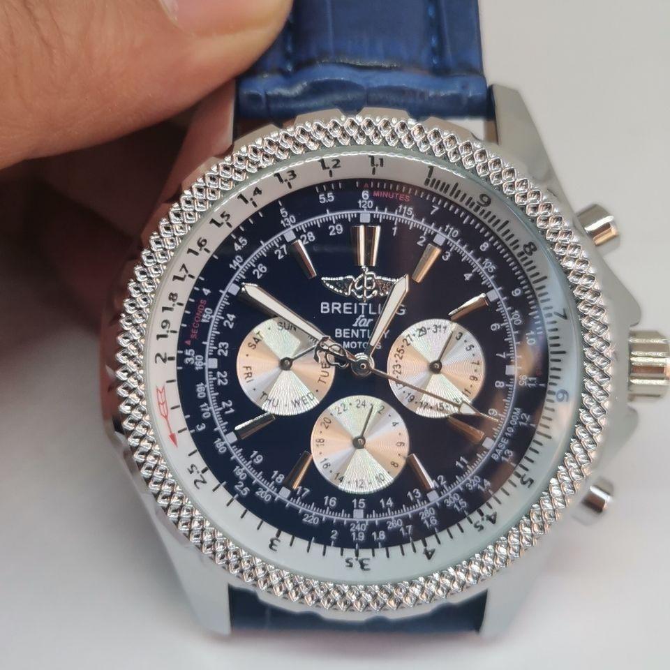 新款百靈自動機械男士BREITLING手錶不銹鋼腕錶自動日曆手錶