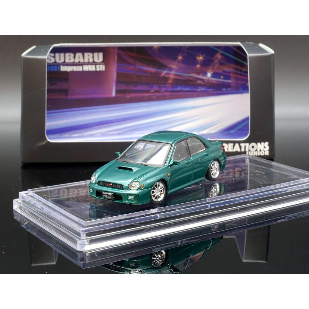 BM 1/64 Subaru 2001 Impreza WRX 圓燈 JDM green MASH
