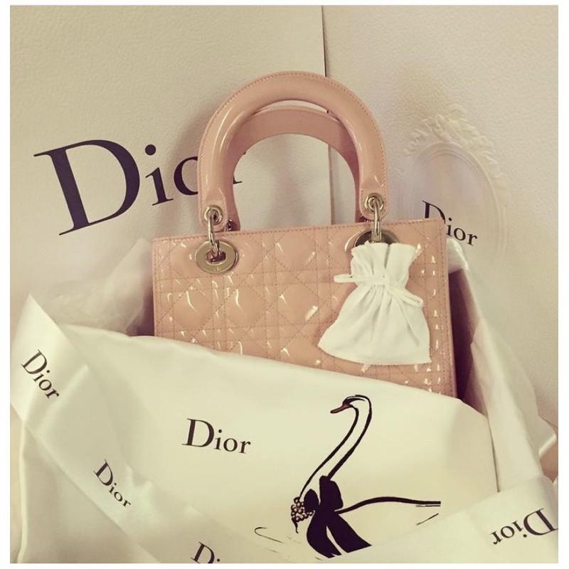 保證正品Dior五格粉膚色黛妃包(8.5成新)