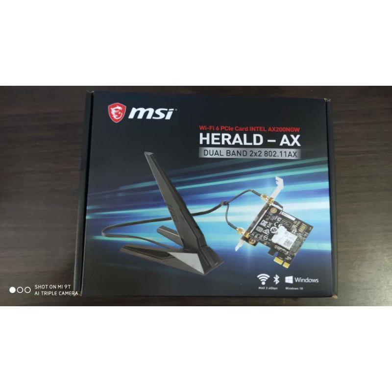 「兩件免運」全新 微星 HERALD-AX  無線藍芽網卡 AX200 WI-FI 6 藍芽5.0