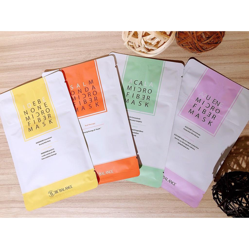韓國BE'BALANCE 小紫人 小綠人 小黃人超纖維面膜三步驟 1片