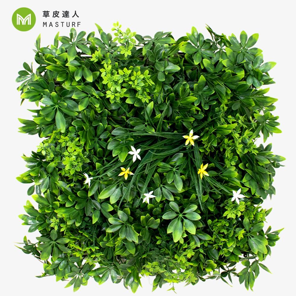 【草皮達人】雙星報喜-大片裝 仿真植物牆(420元/片,整箱10片特價4000含運 大片50cmx50cm)