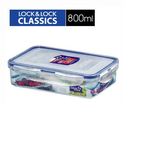樂扣樂扣微波加熱長型保鮮盒800ml(HPL816)