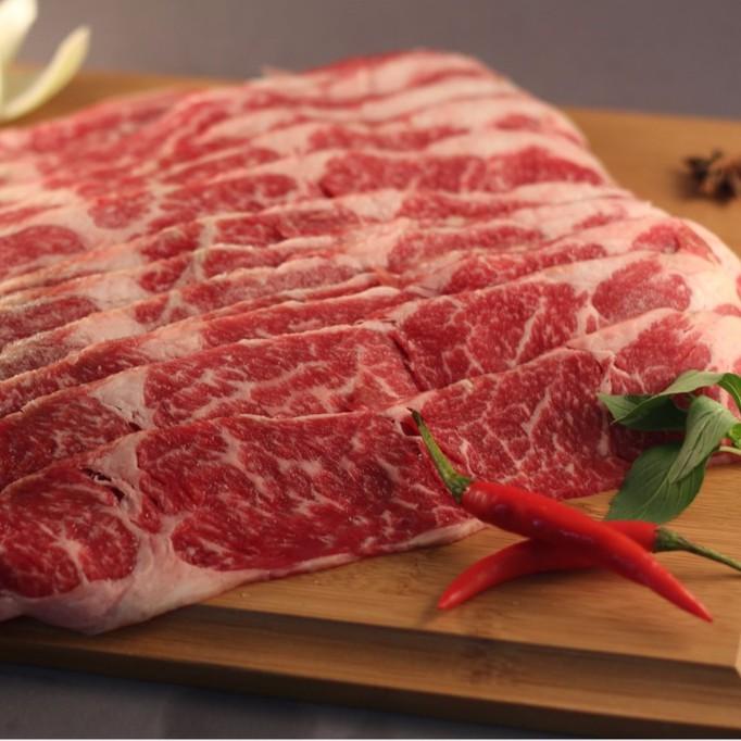 《酒肉朋友》特級牛霜降燒烤/火鍋片 新鮮牛肉 肉片 批發 零售 宅配 和風 聚會 火鍋 霜降 油花 美味 香味 圍爐