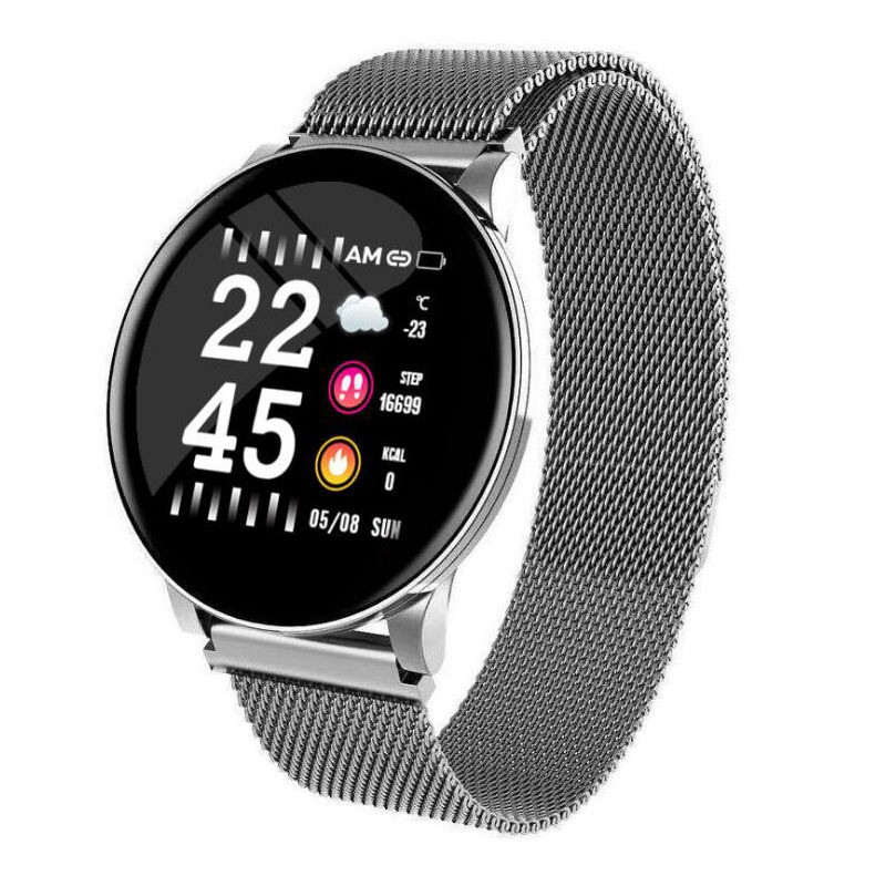 🚚現貨【免運】智能手環W8彩屏圓屏心率血壓血氧多功能藍牙運動手錶 智慧手錶