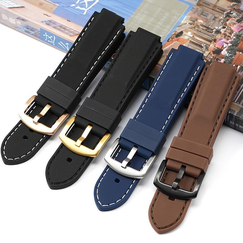 適用 卡西歐 Casio GST-B200 Series 手錶 錶帶 優質 硅膠 橡膠 防水 腕帶.章魚妹