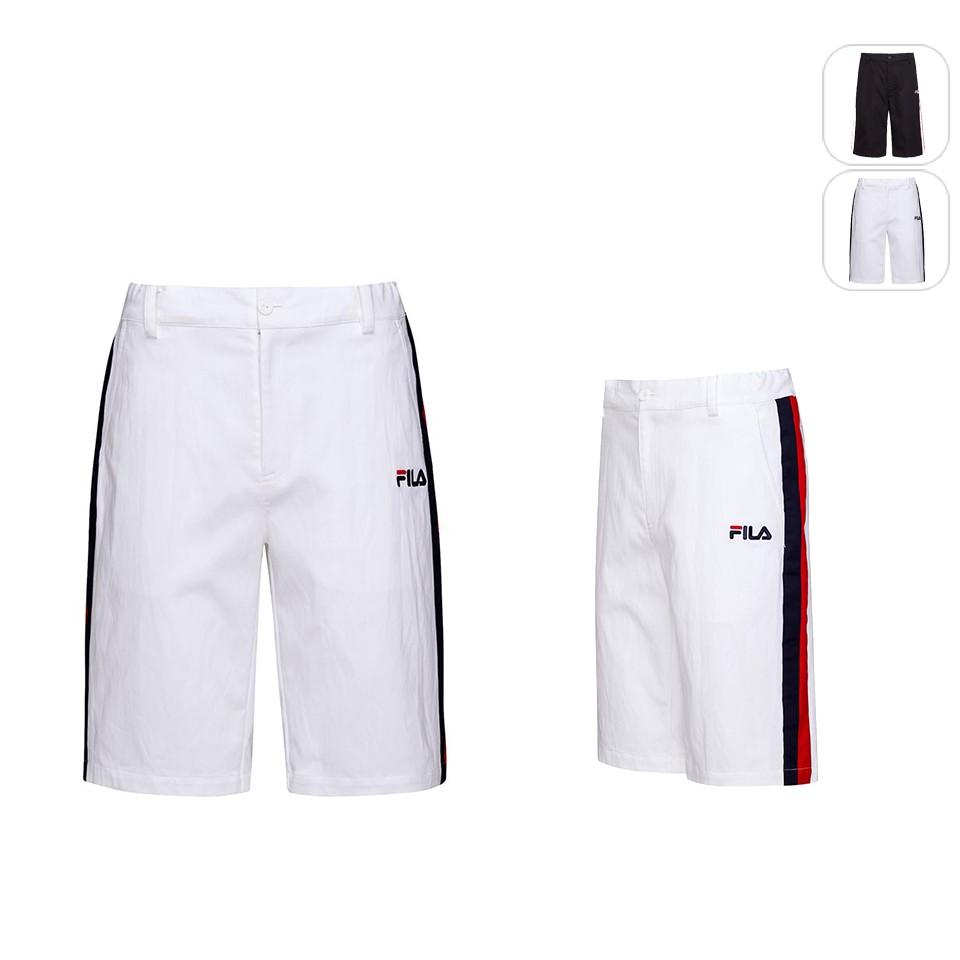 【FILA】男性 平織短褲-白色 1SHU-1452-WT