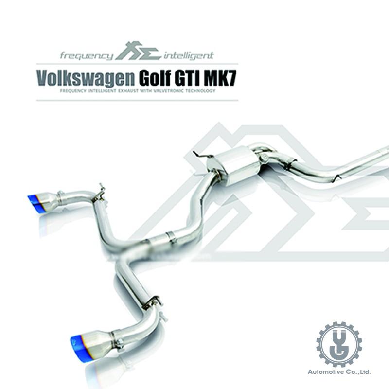 FI 高流量帶三元催化頭段 當派 排氣管 Volkswagen Golf GTi MK7 底盤【YGAUTO】