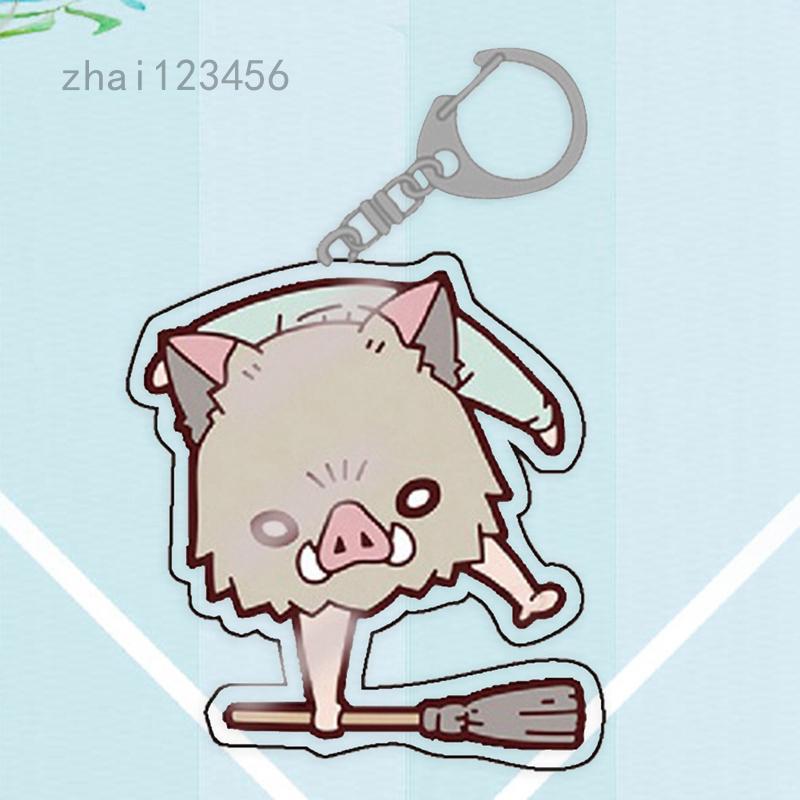 Zhai123456 新款睡衣款鬼滅之刃亞克力鑰匙扣挂件炭治郎義勇鑰匙扣