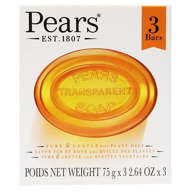 印度 Pears梨牌 保濕甘油香皂 75g*3入/組 洗手 沐浴 洗臉  【Suny Buy】