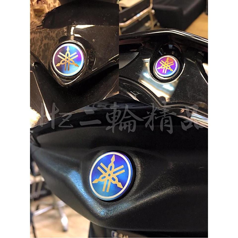 Hz二輪精品 鈦合金 音叉 鈦片 燒鈦 logo 標誌 正鈦合金 勁戰三代 勁戰 儀表 大盾 尾燈下蓋 三代戰 非 貼紙