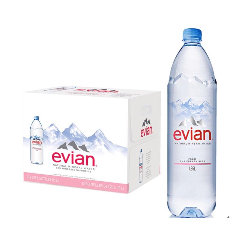 「可刷卡免運」Costco Evian 天然礦泉水 1250毫升12瓶