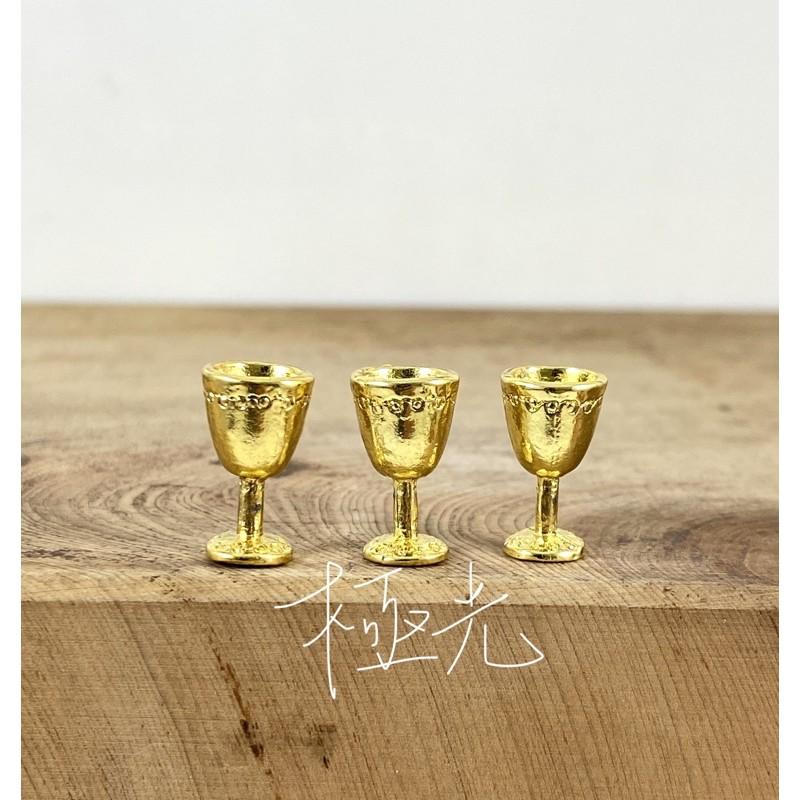 金銅杯 3支100 川頭 擺宴 神明 陣頭 廟會 模型 公仔 仿真 杯子 神明杯 神杯