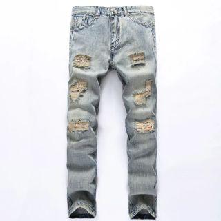 歐美 水洗藍 刀割 牛仔 破壞褲 嘻哈 饒舌 HIP HOP MJF 尺寸:27腰~42腰 彰化縣