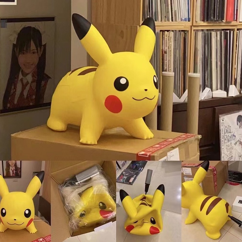 Pokemon Air Pikachu 皮卡丘跳跳馬擺件 沙發凳 靠枕 承重100公斤