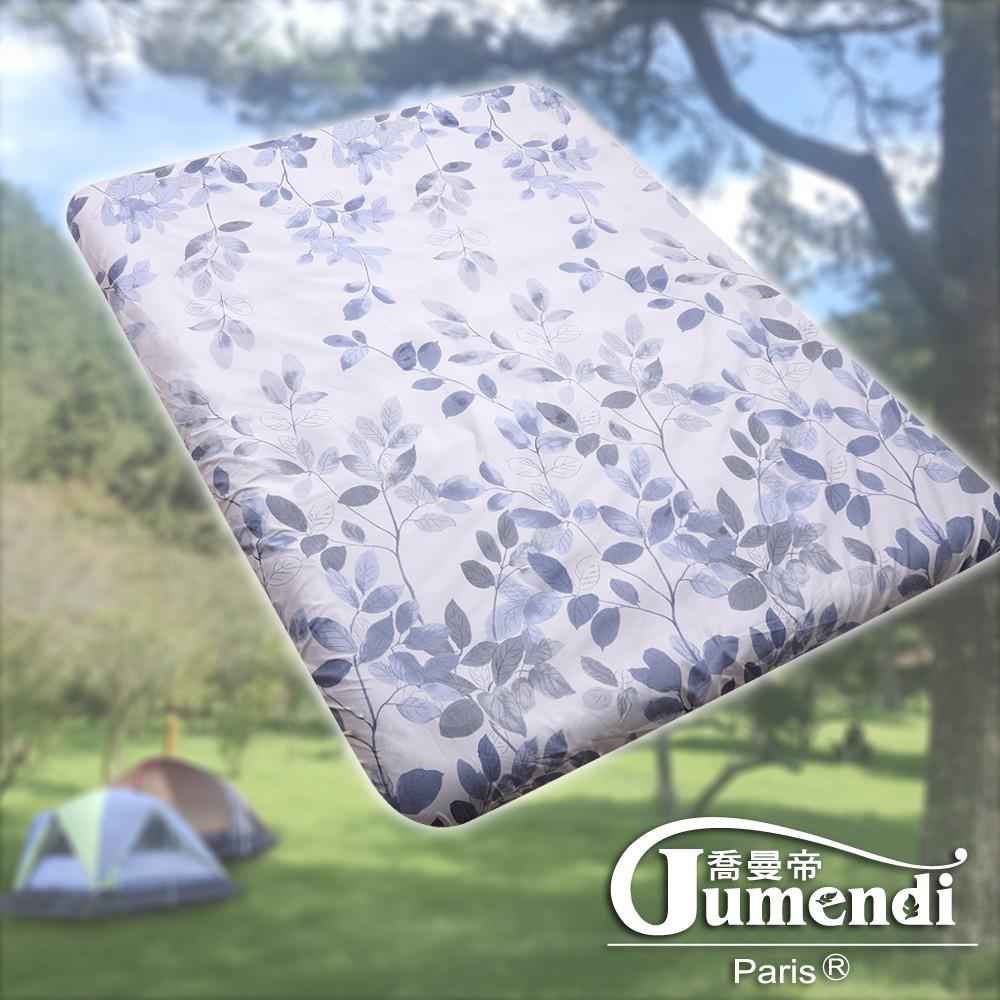 織眠家族 MIT柔絲絨床包套-原廠獨家專利 戶外露營充氣床專用 台灣製-浪漫葉影