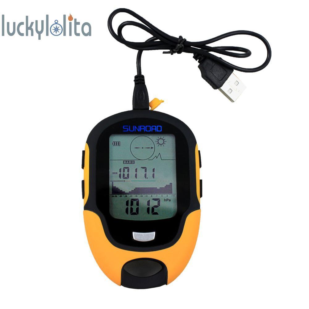 Luc 防水 Fr500 多功能液晶數字高度計氣壓計指南針