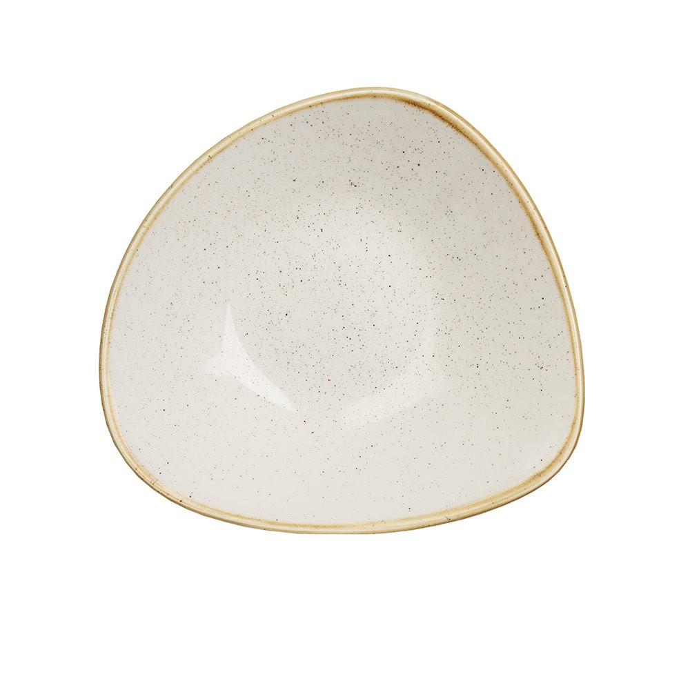 【CHURCHiLL】STONECAST點藏系列-三角18cm餐碗/餐盤-米白色