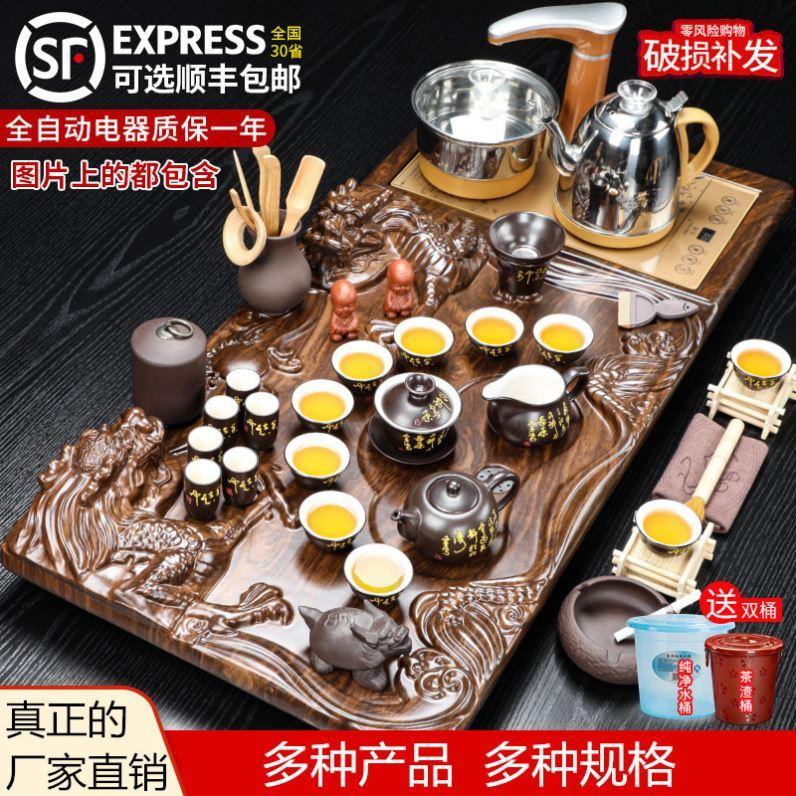 ◤玻璃茶壺◢手工玻璃茶具6件套玻璃茶壺茶器 雙層玻璃杯 茶盤套餐沖茶器簡約