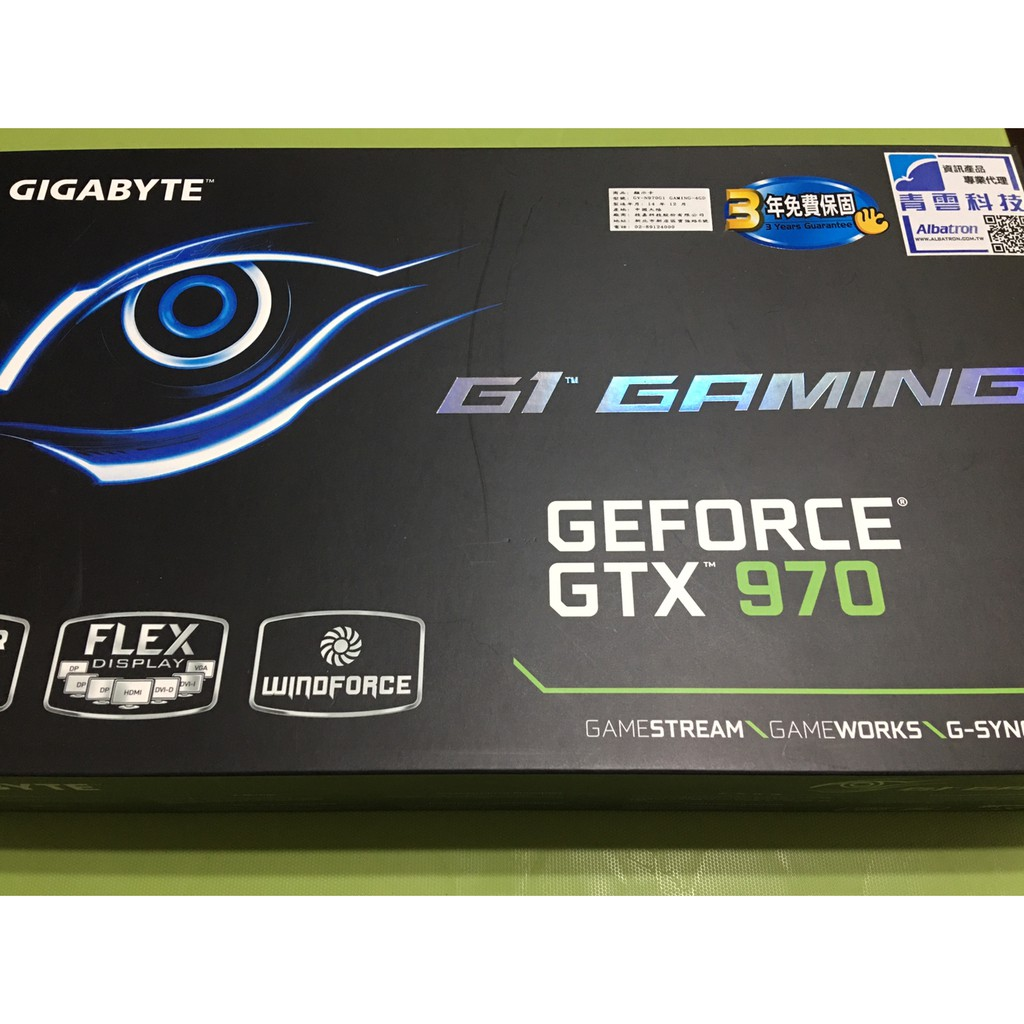 【二手】【Gigabyte】技嘉 GTX970 G1 Gaming 4GD