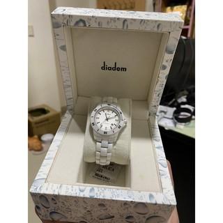黛亞登diadem 陶瓷腕錶 型號DD-8D1407-551S-W 台北市
