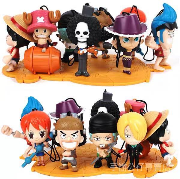 【現貨免運】正版2013M記海賊航海王路飛索隆香吉士娜美公仔玩偶擺件