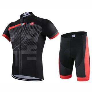 【酷飛騎行】 castelli環法車隊自行車服戶外單車短袖套裝夏季速干透氣腳踏車T恤衫高彈萊卡短褲XS-4XL