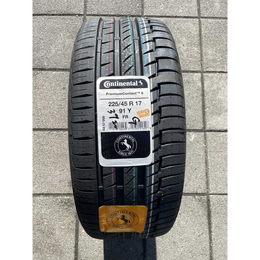 新北 小老闆輪胎 馬牌輪胎Continental PC6 225 / 45 /17 舒適操控性胎款 完工價 各尺寸歡迎詢