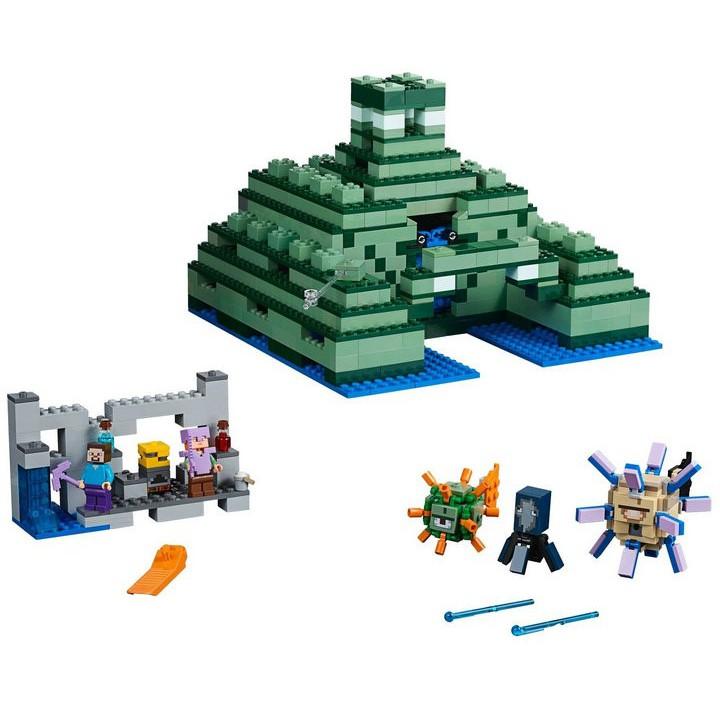 LEGO樂高積木21136我的世界絕版海底神殿遺址拼裝玩具生日禮物8歲