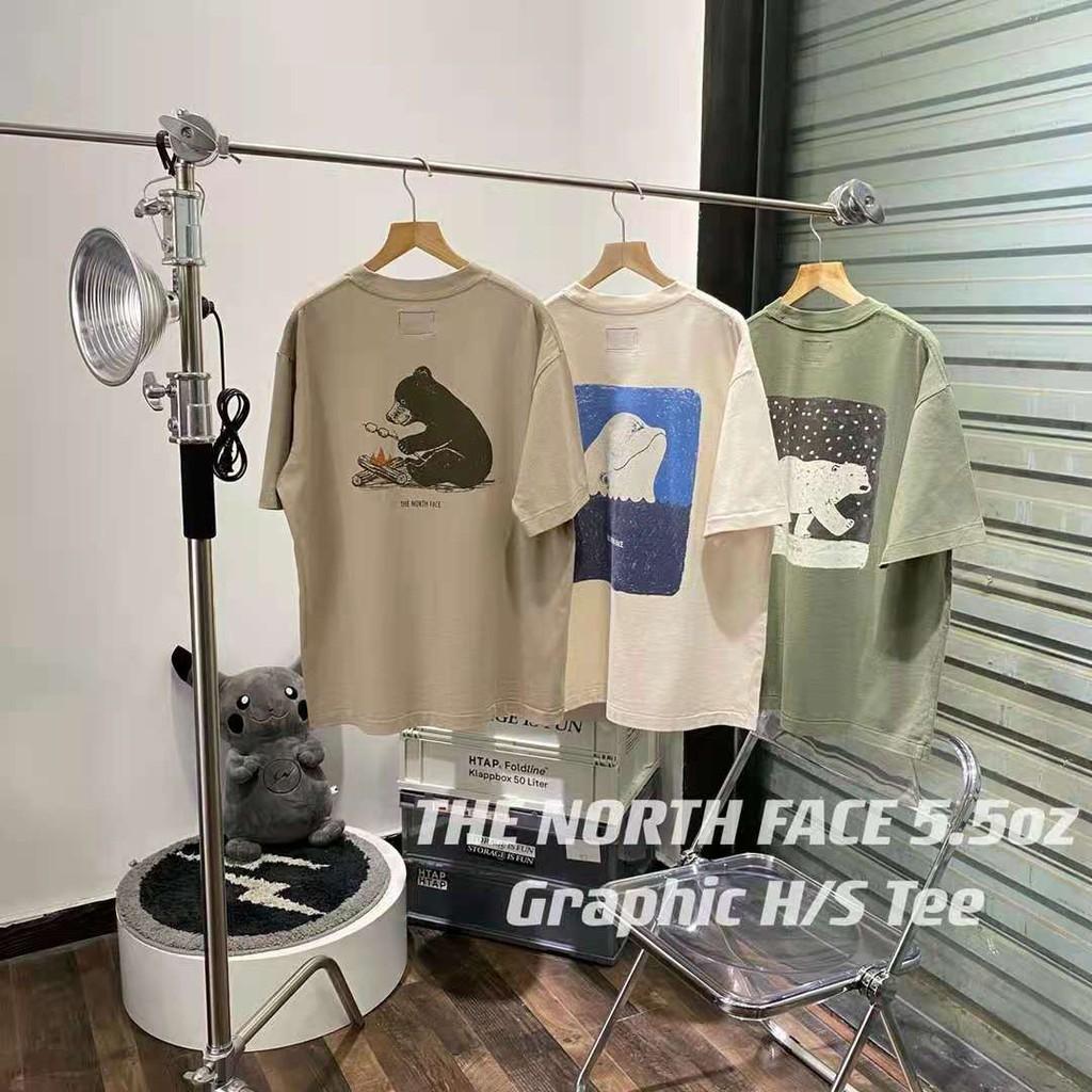 The North Face 紫標 動物Logo標語 短袖T恤 北臉短袖 純棉 Tee