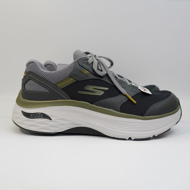 SKECHERS MAX CUSHIONING ARCH FIT 男生款 慢跑鞋 220198CHAR 健走鞋 支撐型