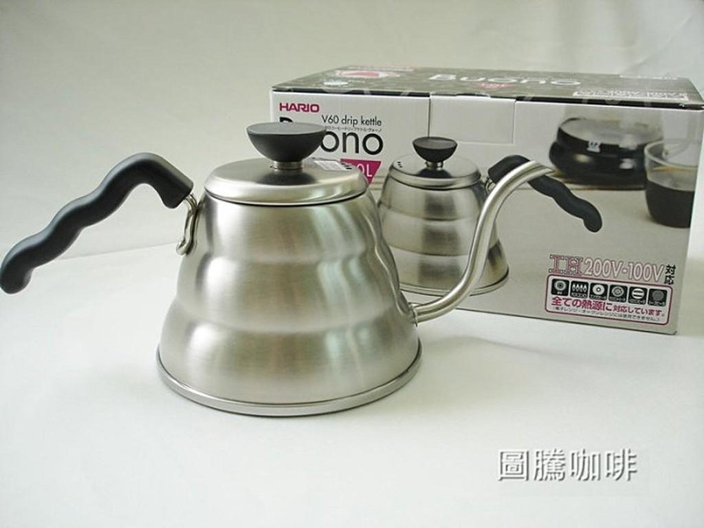 【圖騰咖啡】新款日本製 HARIO雲朵壺1000ml 不銹鋼材質手沖壺 細口壺 電磁爐可用 咖啡壺 VKB-100HSV